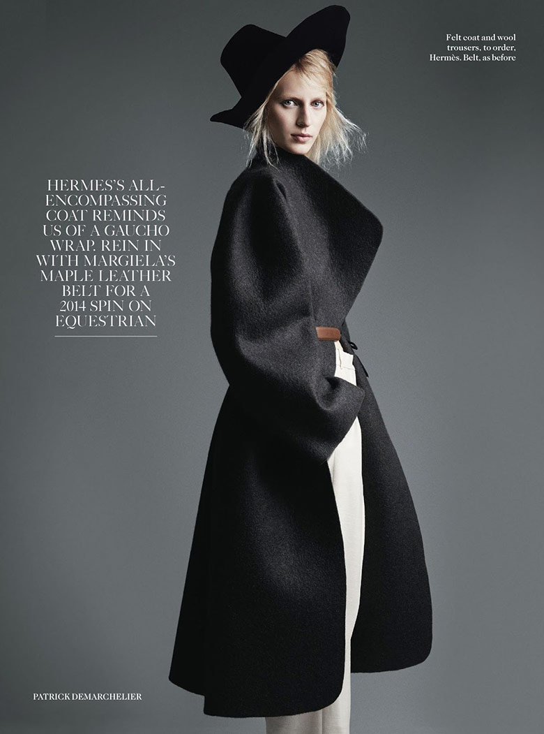 Photo Julia Nobis by Patrick Demarchelier for Vogue UK August 2014