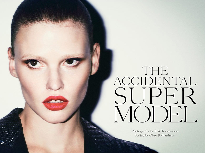 Photo Lara Stone by Erik Torsensson for Industrie Magazine 7