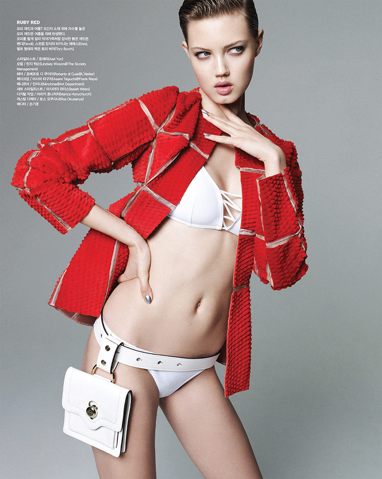 Photo Lindsey Wixson by Nagi Sakai for Vogue Korea July 2014