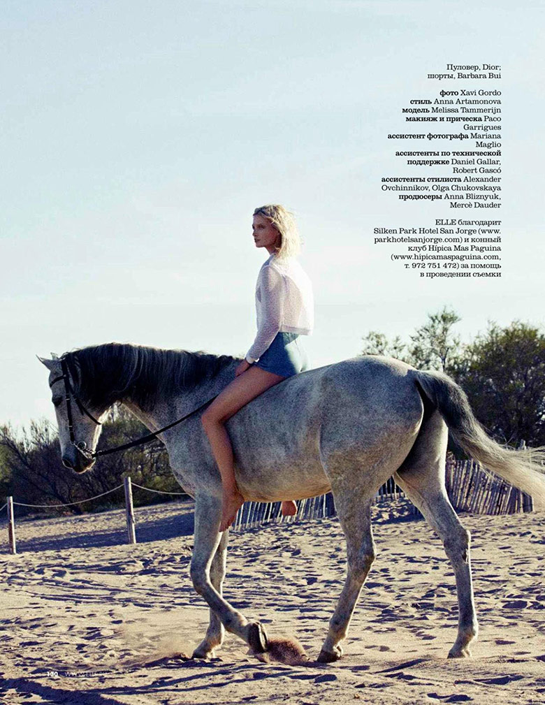 Photo Melissa Tammerijn for Elle Russia July 2014