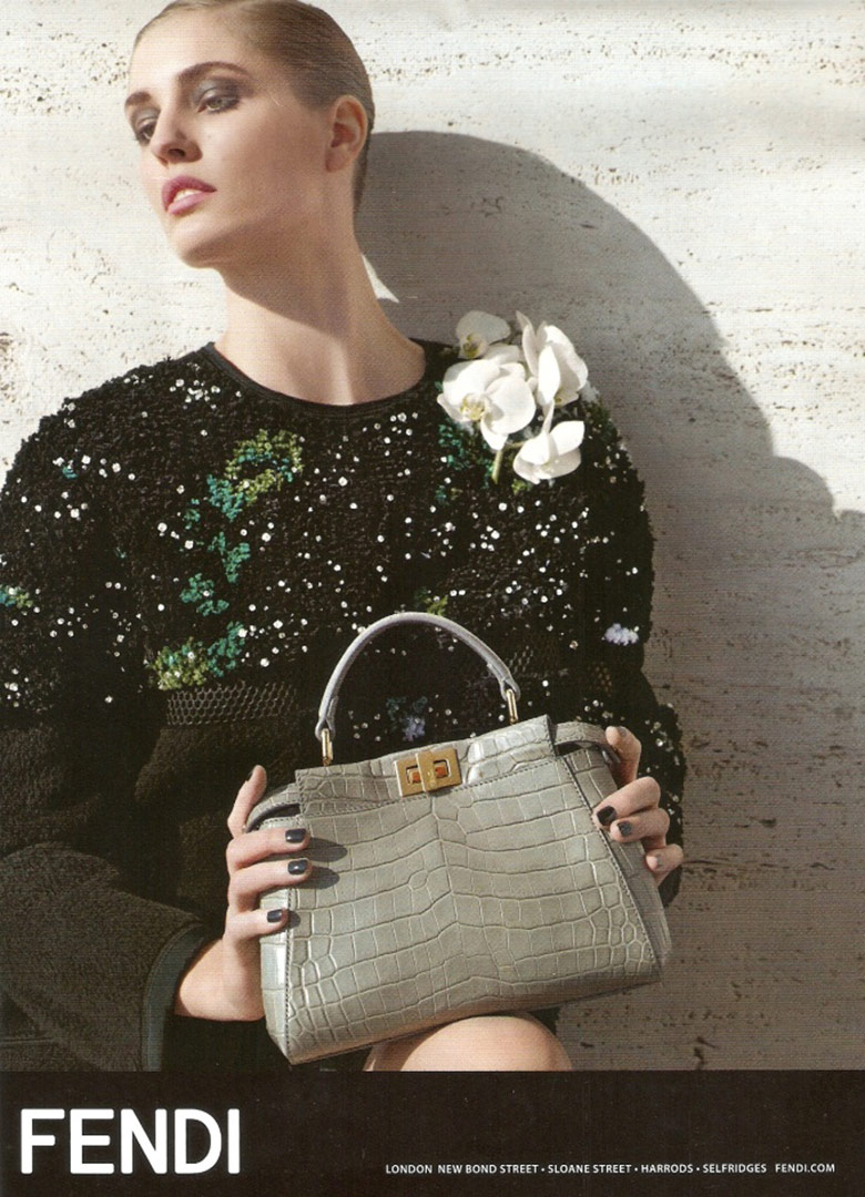 Photo Nadja Bender by Karl Lagerfeld for Fendi F/W 14/15