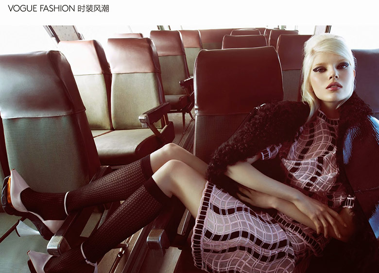 Photo Ola Rudnicka by Camilla Akrans for Vogue China August 2014