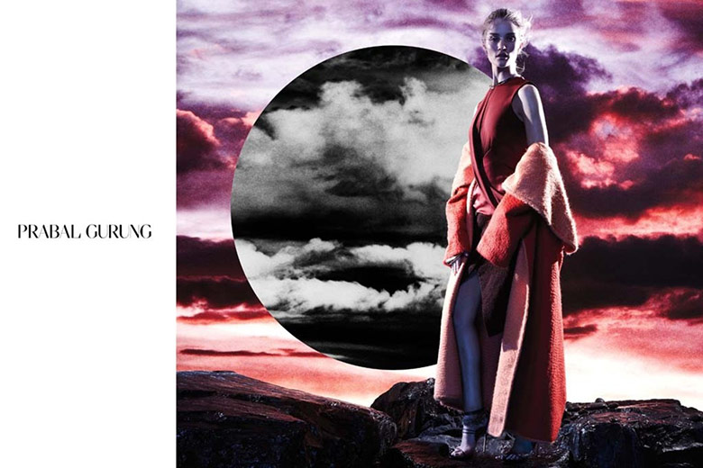 Photo Rosie Huntington Whiteley for Prabal Gurung F/W 14/15