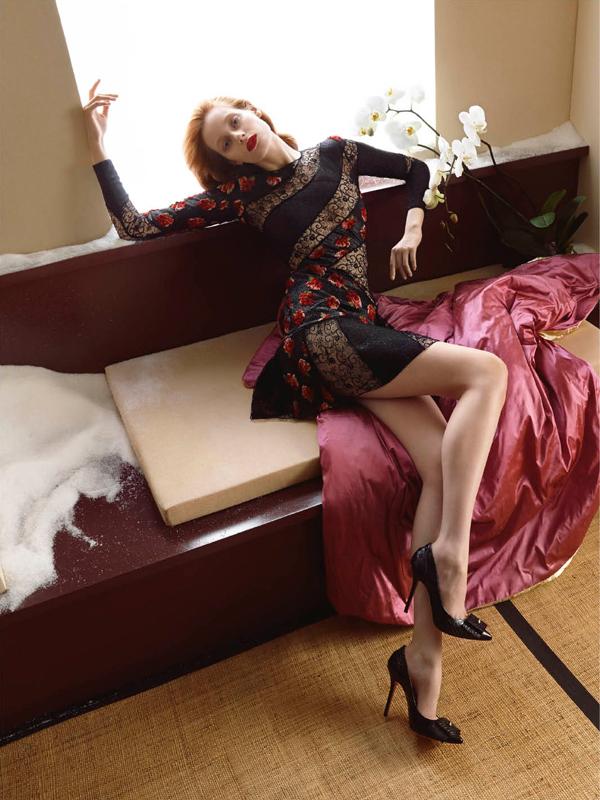 Photo Thairine Garcia by Camilla Akrans for Blumarine F/W 2014/2015