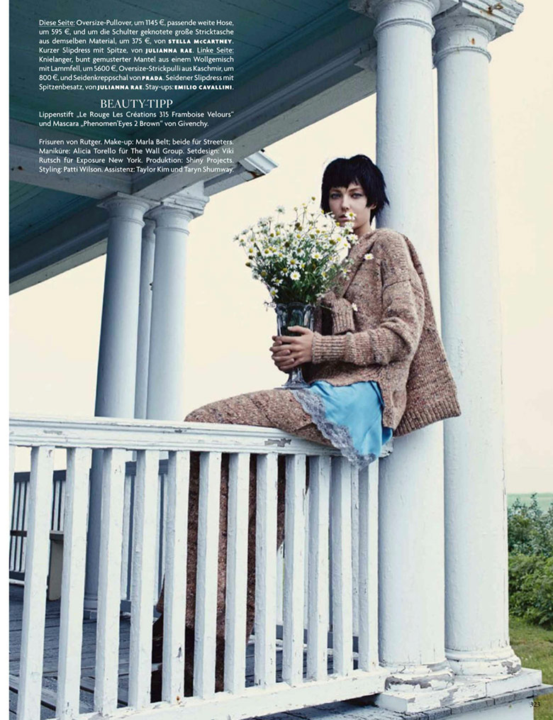 Photo Alisa Ahmann & Stephanie Joy Field for Vogue Germany September 2014