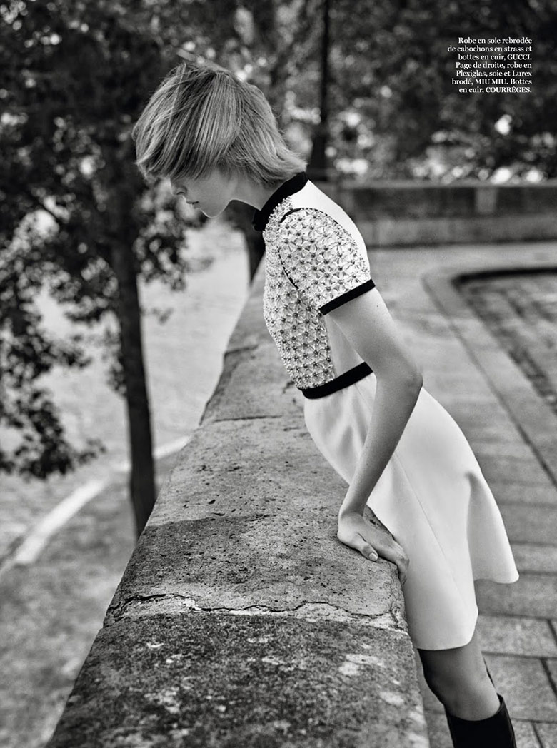 Photo Edie Campbell by Alasdair McLellan for Vogue Paris September 2014