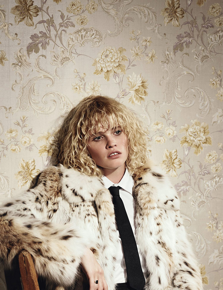 Photo Lara Stone by Willy Vanderperre for W Magazine September 2014