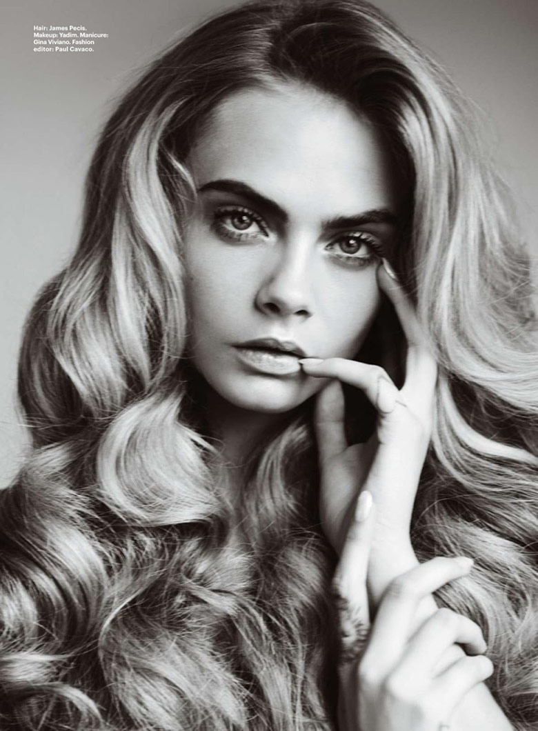 Photo Cara Delevingne by Mario Testino for Allure October 2014