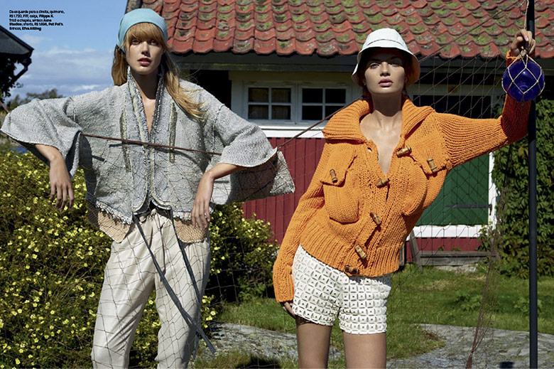 Photo Frida Gustavsson & Moa Aberg for Vogue Brazil October 2014