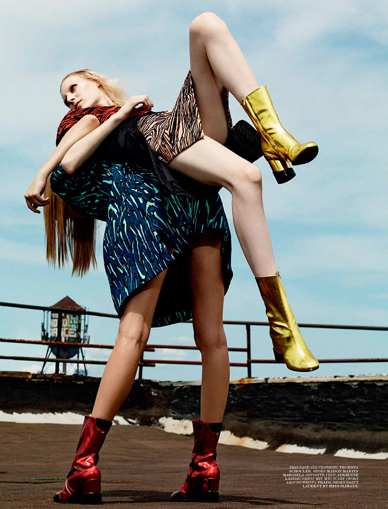 Photo Julia Nobis & Lexi Boling by Craig Mcdean for Interview September 2014