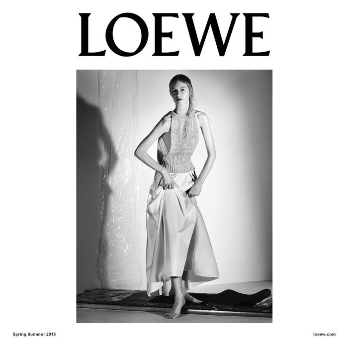 Photo Julia Nobis by Steven Meisel for Loewe S/S 2015 Campaign