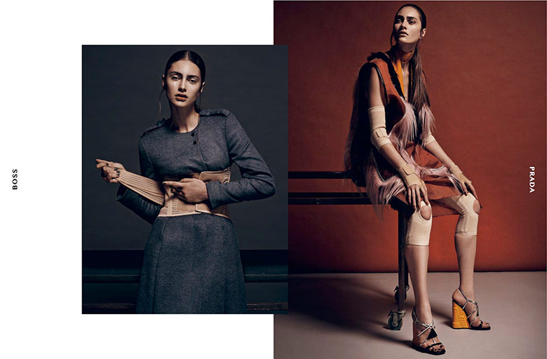 Photo Marine Deleeuw by Thanassis Krikis for Dansk Fall/Winter 2014