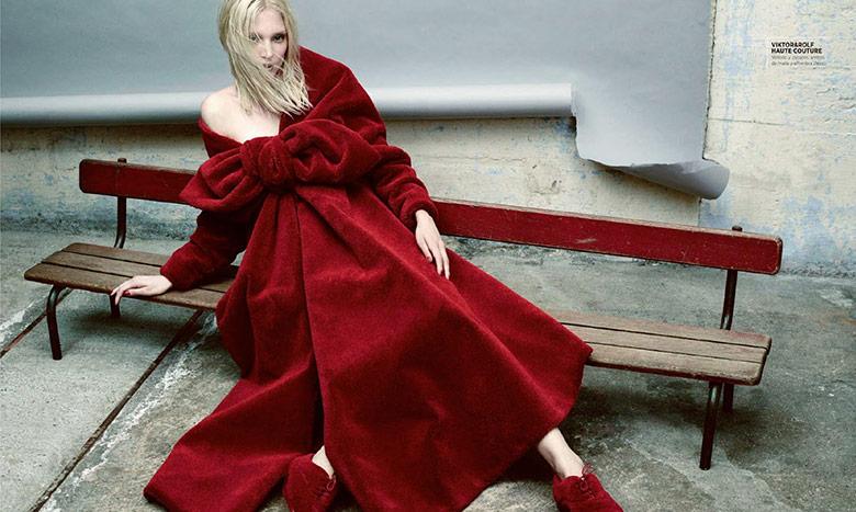 Photo Melissa Tammerijn by Nicolas Valois for Harpers Bazaar Spain October 2014