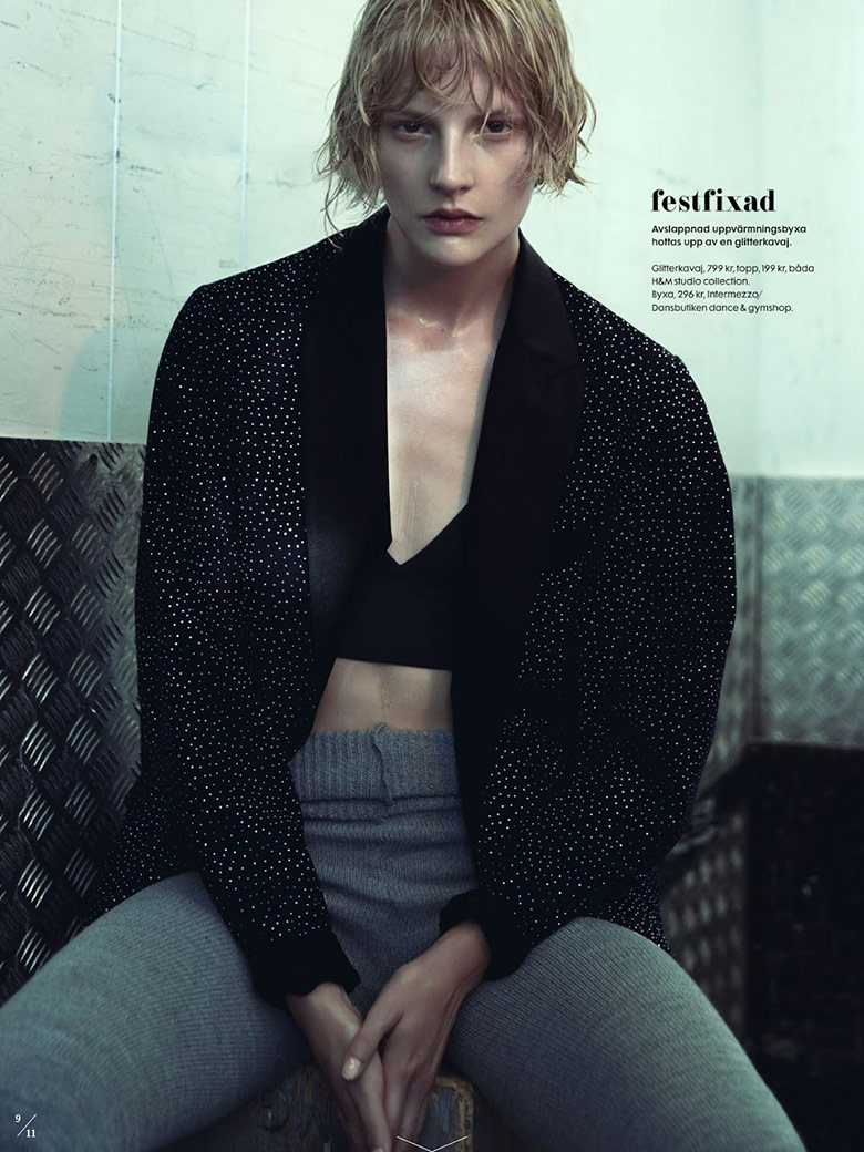 Photo Sara Blomqvist by Benjamin Vnuk for Elle Sweden October 2014