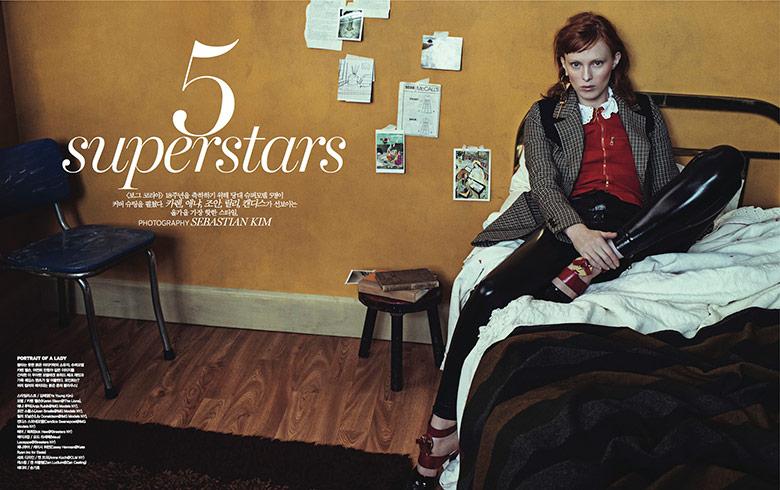 Photo '5 Superstars' by Sebastian Kim for Vogue Korea August 2014
