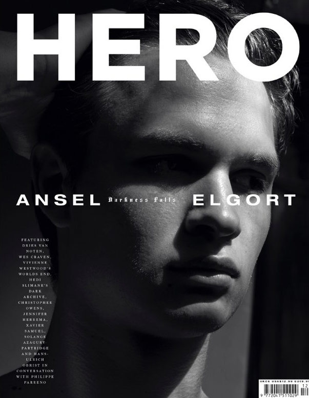 Photo Ansel Elgort by Hedi Slimane for Hero No. 12