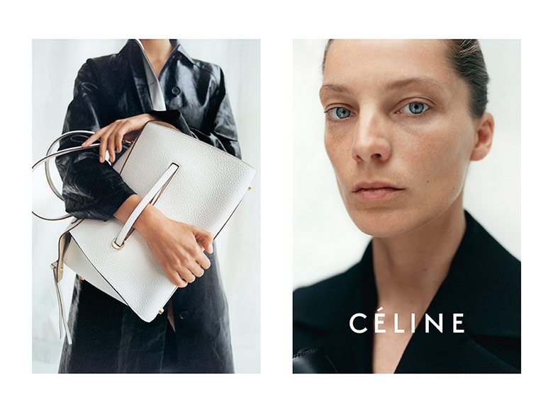 Photo Daria Werbowy by Tyrone Lebon for Céline Resort 2015