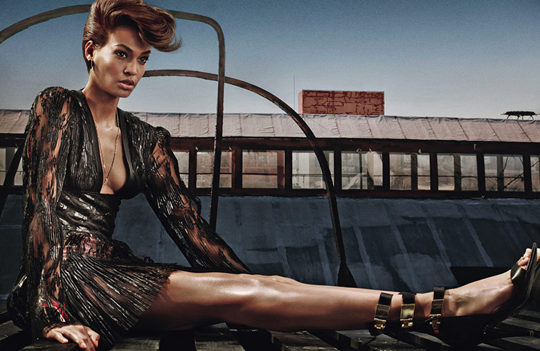 Photo Joan Smalls & Karlie Kloss by Steven Klein for W November 2014