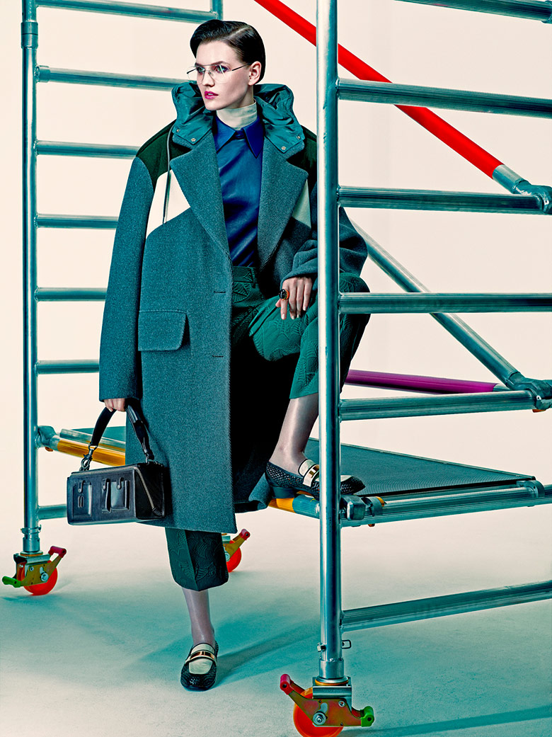 Photo Katlin Aas by Andreas Sjodin for Vogue Japan December 2014
