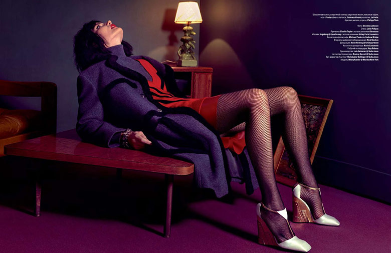 Photo Missy Rayder by Stockton Johnson for Vogue Ukraine November 2014