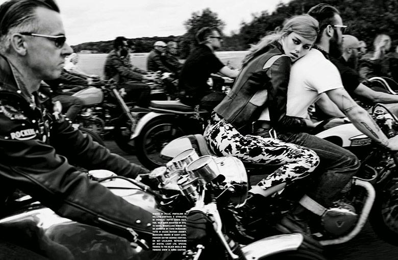Photo Ondria Hardin by Solve Sundsbo for Vogue Italia October 2014