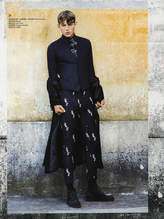 Photo Sebastian Sauve by Zhang Xi for Harper's Bazaar Man China