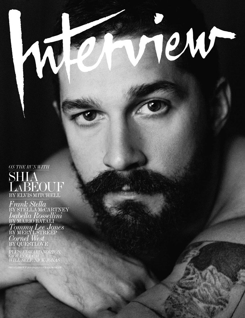 Photo Shia LeBeouf by Craig McDean for Interview Magazine November 2014