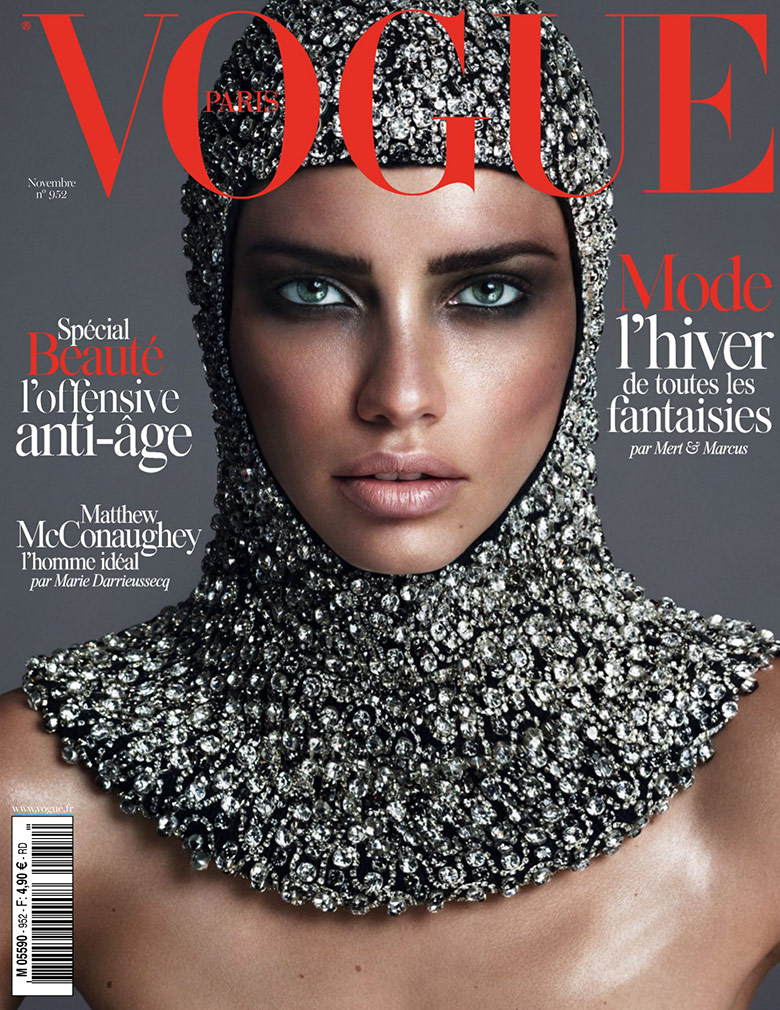 Photo Adriana Lima by Mert & Marcus for Vogue Paris November 2014