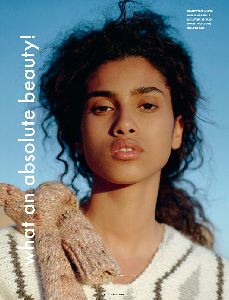 Photo  Imaan Hammam for i D Winter 2014