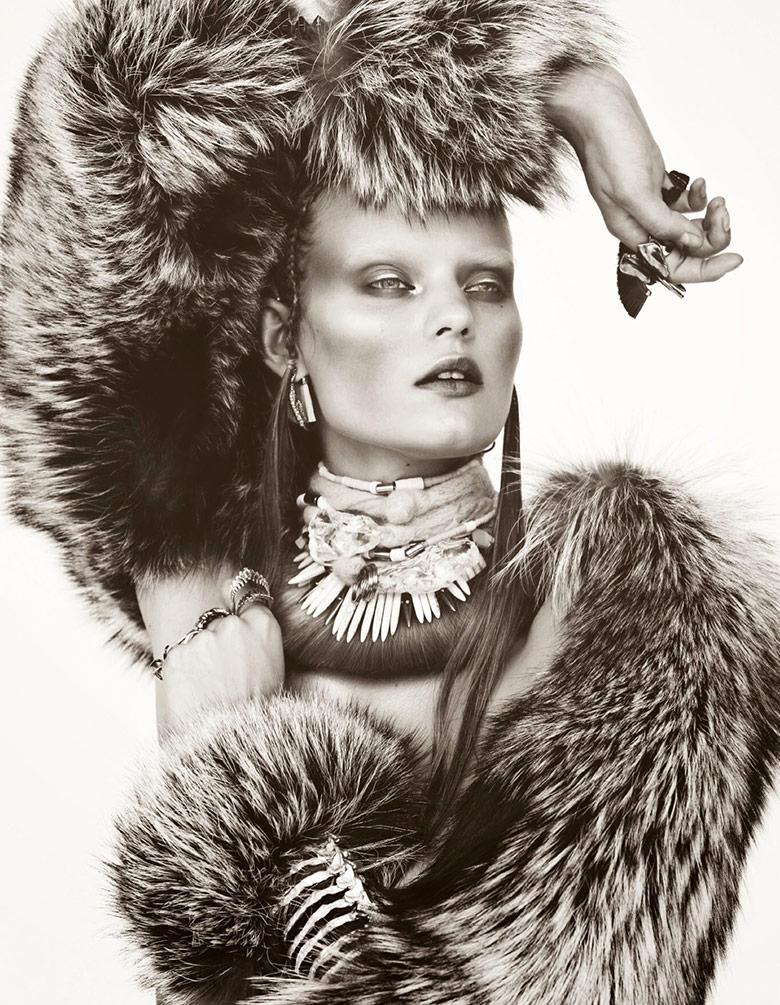 Photo Kate Grigorieva by Billy Kidd for Numero November 2014