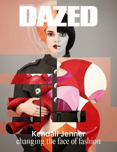 Photo Kendall Jenner by Ben Toms for Dazed Winter 2014