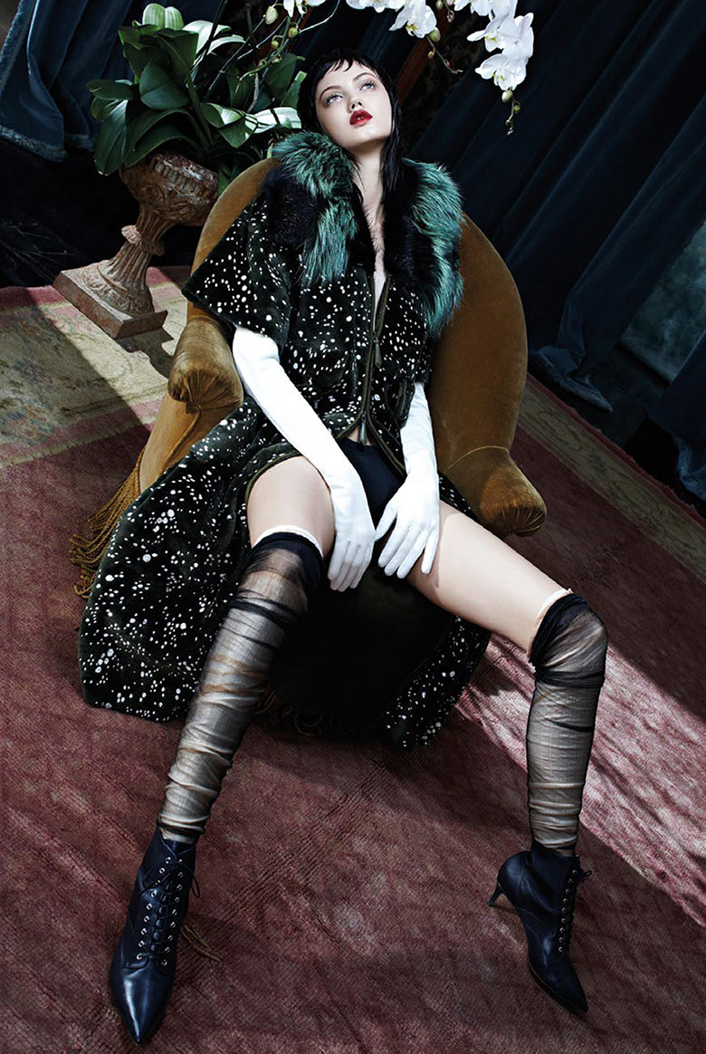 Photo Lindsey Wixson by Emma Summerton for Vogue Italia November 2014