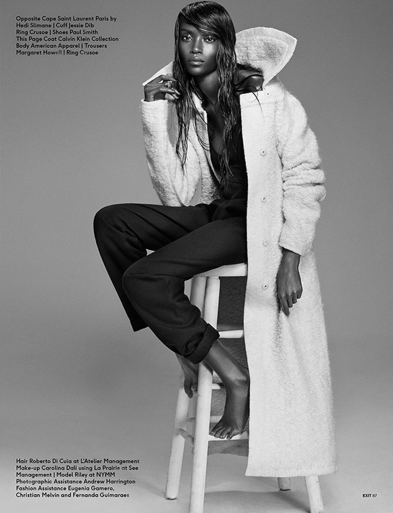 Photo Riley Montana by Michael Schwartz for Exit Fall/Winter 2014