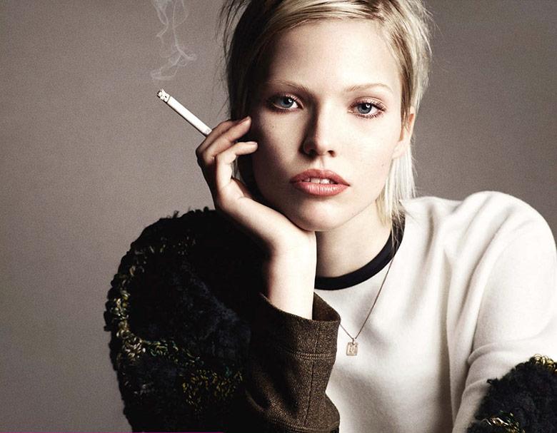 Photo Sasha Luss by Luigi & Iango for Vogue Germany December 2014