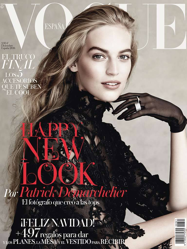 Photo Vanessa Axente by Patrick Demarchelier for Vogue Spain December 2014