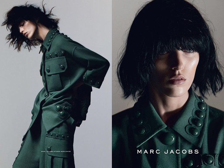 Photo Anja Rubik by David Sims for Marc Jacobs S/S 2015 Campaign