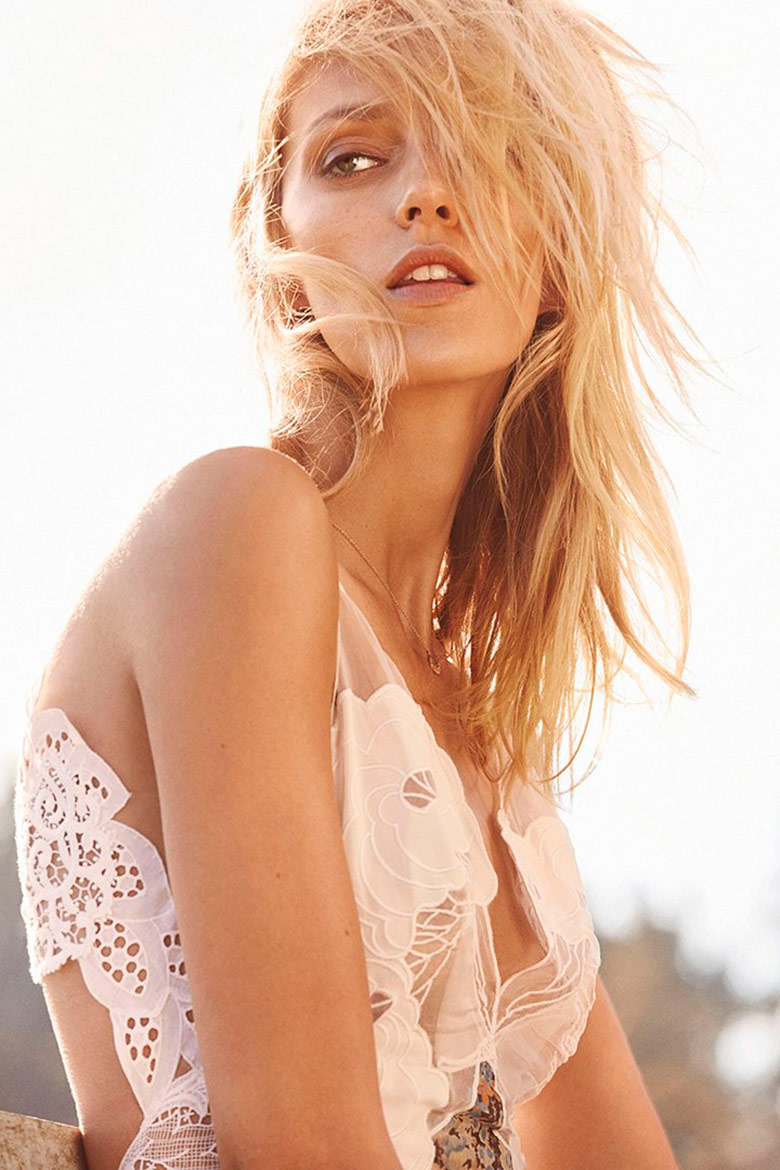 Photo Anja Rubik for The Edit by Net A Porter November 2014