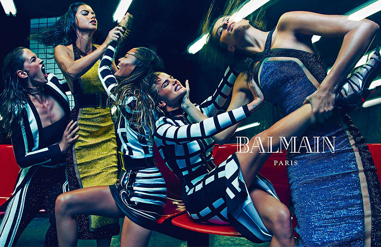 Photo Balmain Spring/Summer 2015 Campaign by Mario Sorrenti