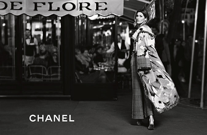 Photo Gisele Bundchen by Karl Lagerfeld for Chanel S/S 2015
