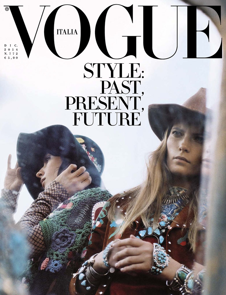 Photo Jamie Bochert & Valerija Kelava by Steven Meisel for Vogue Italia December 2014