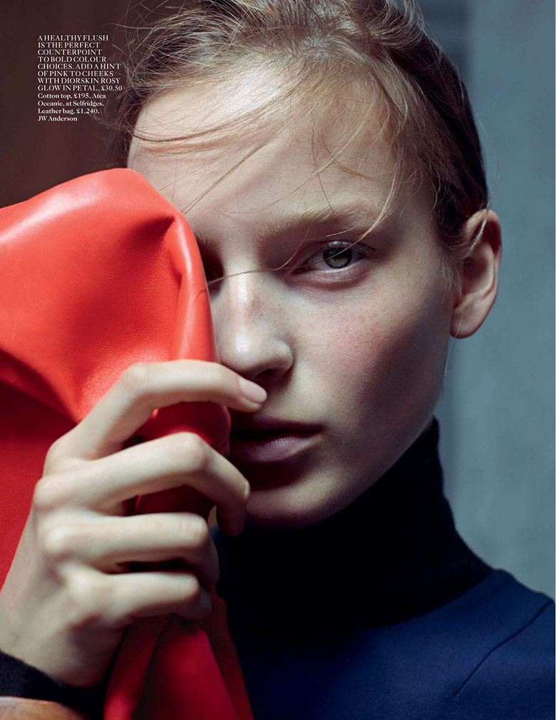 Photo Julia Bergshoeff by Karim Sadli for Vogue UK January 2015