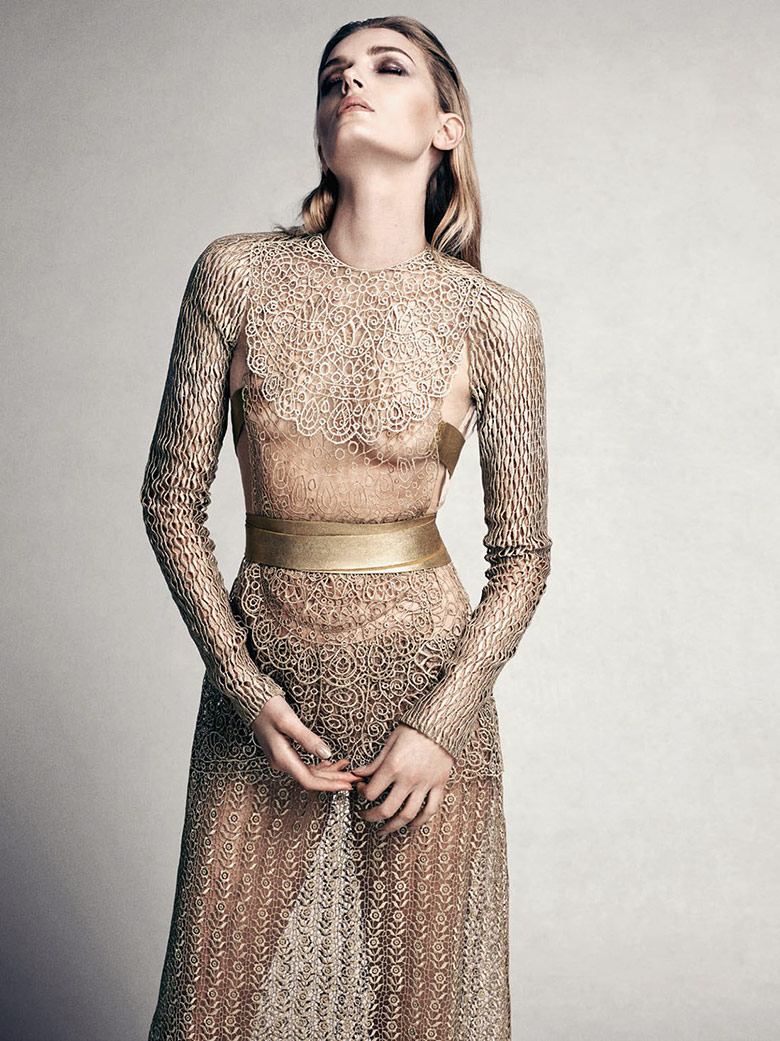 Photo Lily Donaldson by David Slijper for Vogue Turkey December 2014