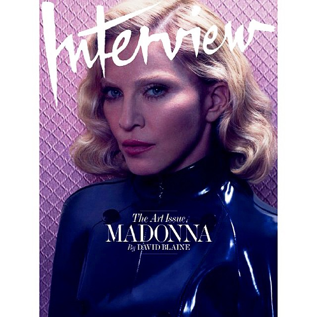 Photo Madonna by Mert & Marcus for Interview Magazine December/January 14/15