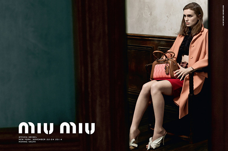 Photo Marine Vacth by Steven Meisel for Miu Miu S/S 2015