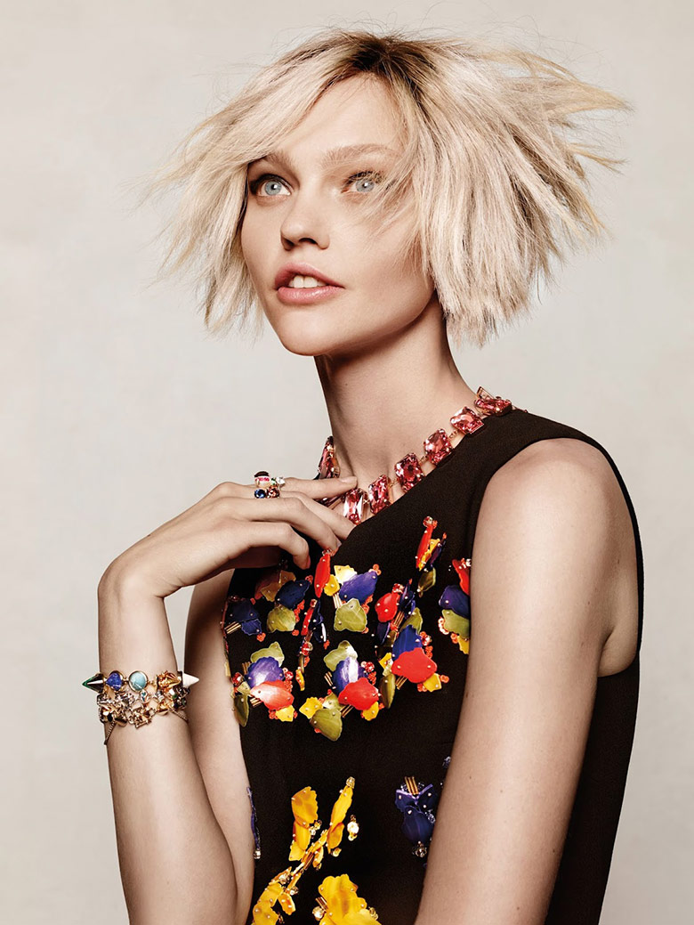 Photo Sasha Pivovarova by Jason Kibbler for Vogue Korea December 2014