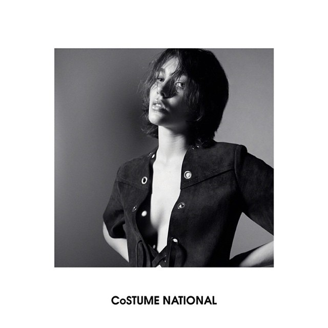 Photo Steffy Argelich by Glen Luchford for Costume National 2015 Campaign
