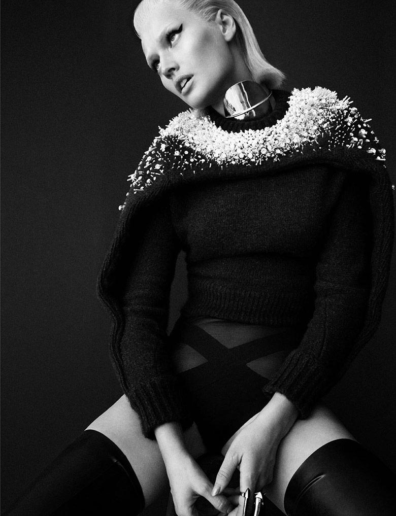 Photo Toni Garrn for Numero December January 2014 2015