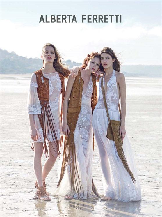 Photo Alisa Ahmann, Natalie Westling & Valery Kaufman for Alberta Ferretti S/S 2015