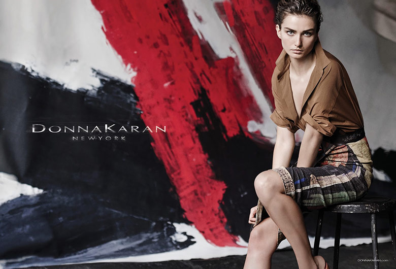 Photo Andreea Diaconu by Peter Lindbergh for Donna Karan S/S 2015