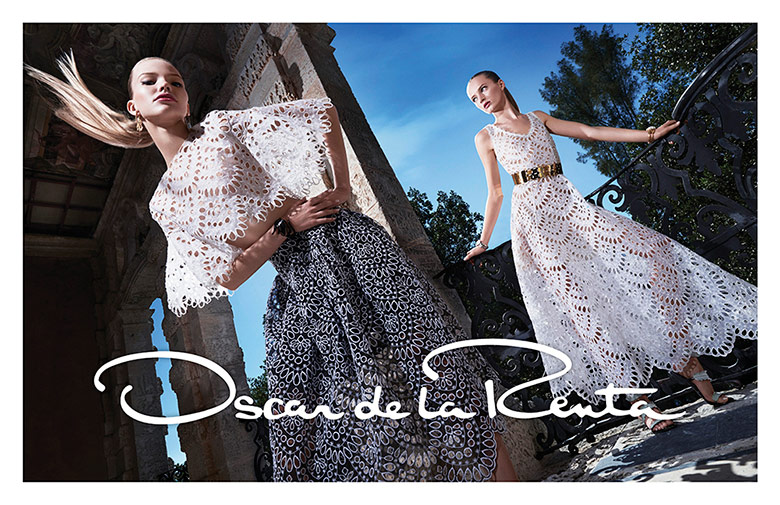 Photo Daria Strokous & Sasha Luss for Oscar de la Renta S/S 2015